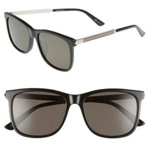 New GUCCI 56mm Polarized Sunglasses